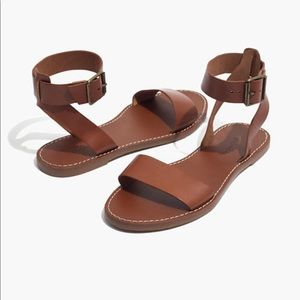 NWT Madewell The Boardwalk Ankle-Strap Sandals 7.5
